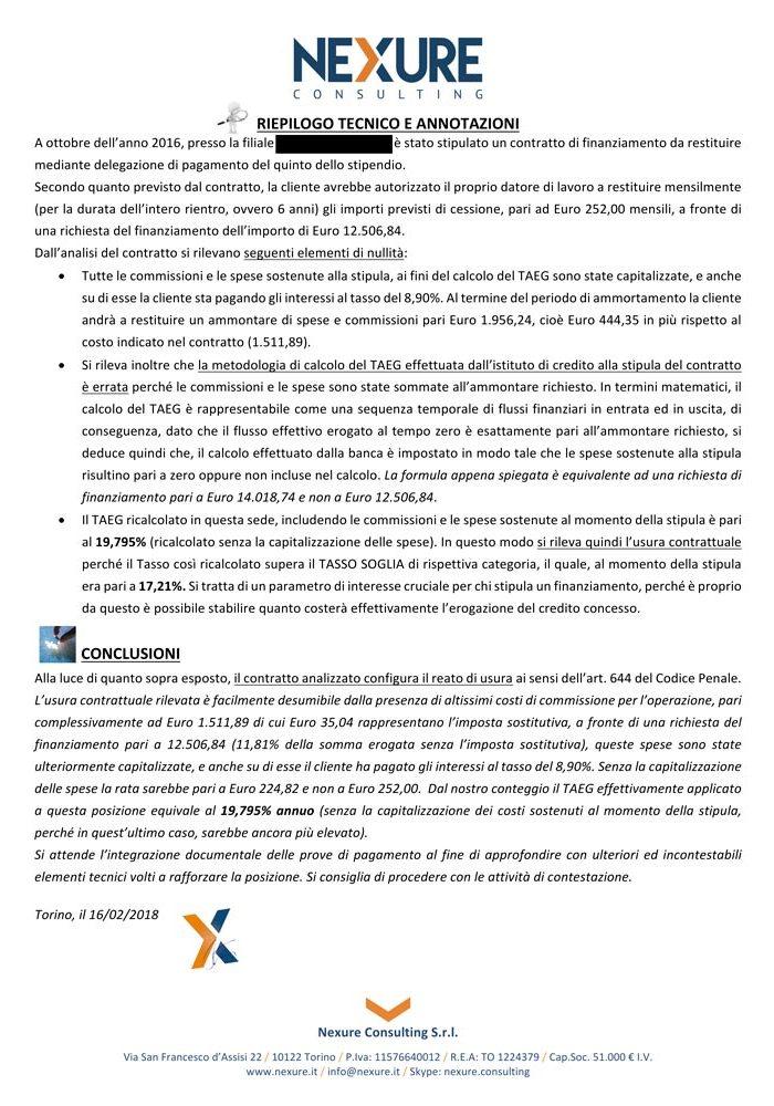 esempio certificazione usura su cessione 5 dello stipendio pagina 3
